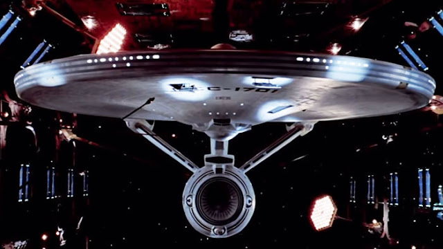 The U.S.S. Enterprise in space dock in Star Trek: The Motion Picture