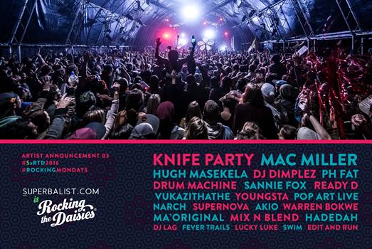Cape Town superbalist rocking the daisies 2016 knife party