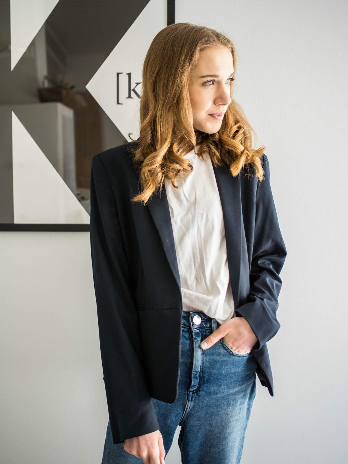 Dark blue / navy blazer - Tummansininen bleiseri