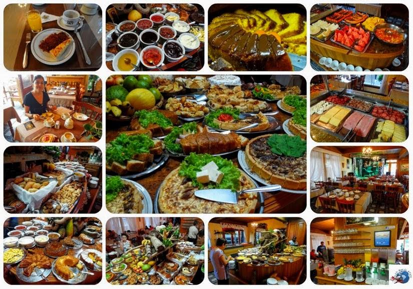 Café da manhã - Hotel Sky - Gramado - RS