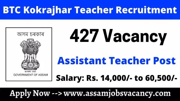 BTC Kokrajhar Teacher Recruitment 2021