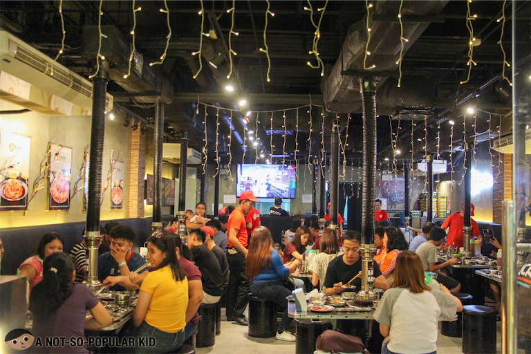 Interior of Samgyupsalamat in Alabang Town Center