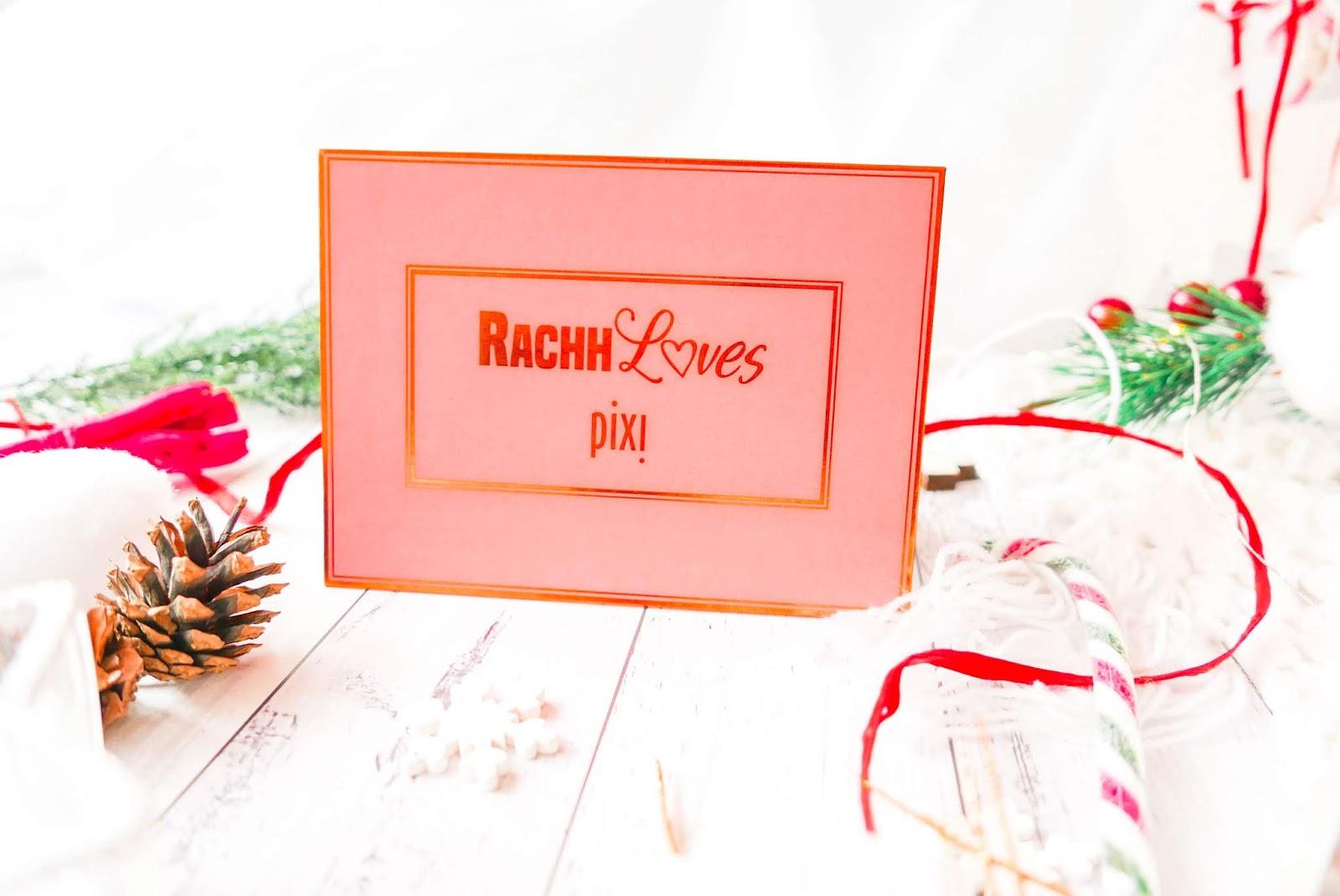 RachhLoves paleta rozświetlaczy pixi