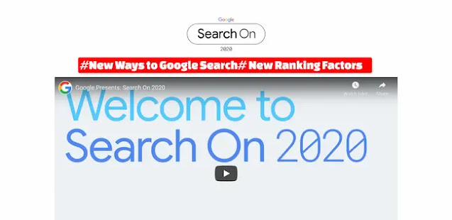 New Google Ranking Factors Search on 2020
