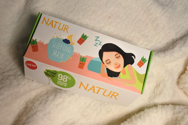 natur sleeping mask masker aloe vera gel