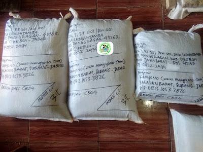 Tambahan Benih Padi Pesanan  TARISAN Cirebon, Jabar.     (Setelah di Packing).