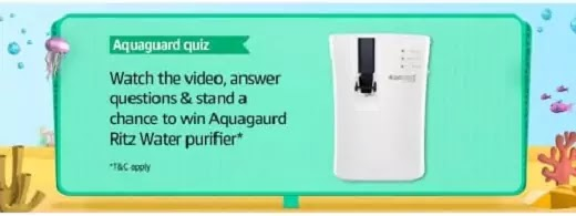 What element of the Alkaline cartridge in the Aquaguard Ritz makes water safer, healthier and tastier by removing contaminants such as VOCs?