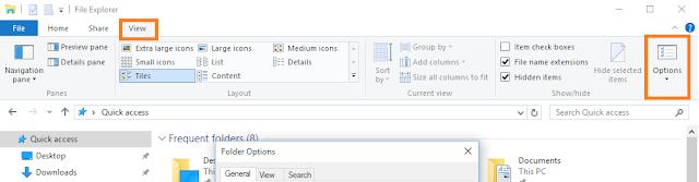Jüngste Dateien und Ordner in den Schnellzugriff / Fenster zu verstecken 10