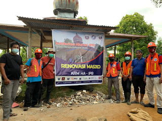 Aksi Terpuji Himpunan Alumni IPB Renovasi Masjid Dampak Gempa Sulbar