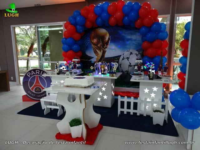 Decoração de aniversário PSG - Paris Saint-Germain - Festa infantil Rio de Janeiro - RJ
