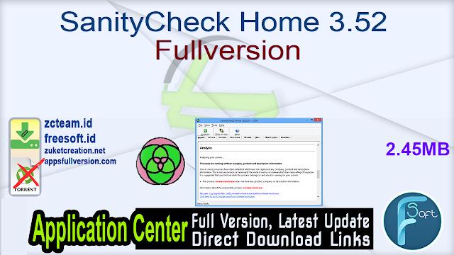 SanityCheck Home 3.52 Fullversion