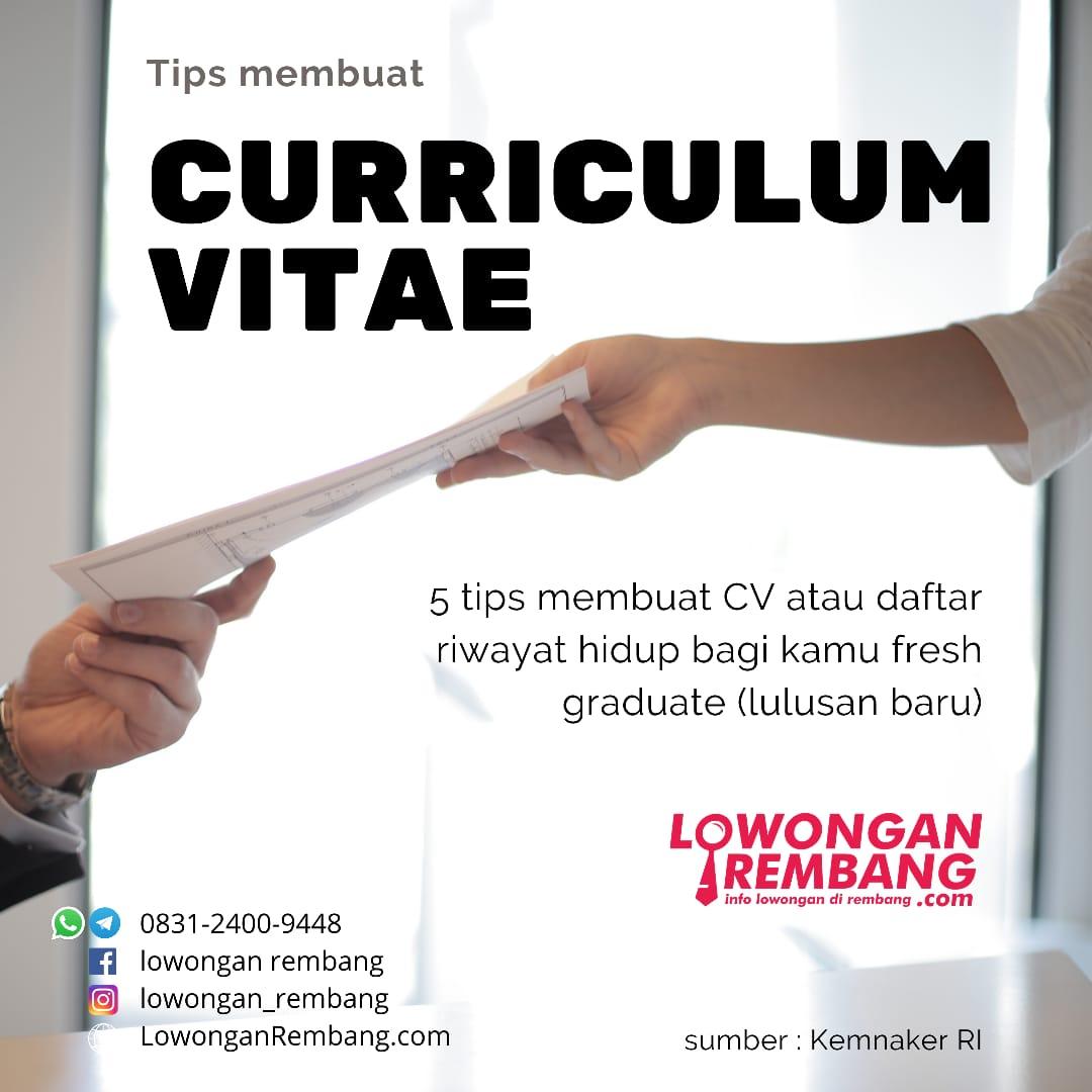 curriculum vitae - lowongan rembang
