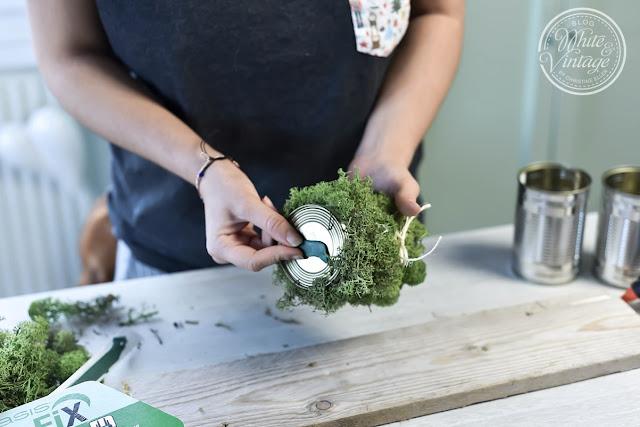 DIY-Deko aus Dosen und Moos