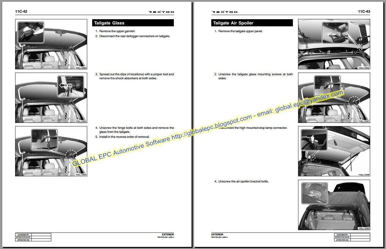 Auto Moto Repair Manuals Ssangyong Rexton Workshop Repair