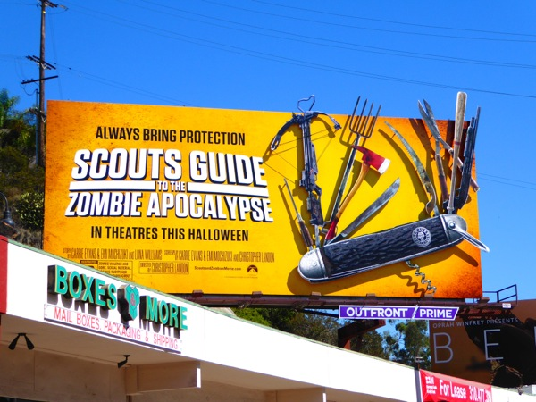 Special Scouts Guide Zombie Apocalypse Swiss Army knife billboard