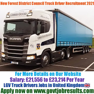New Forest District Council LGV Truck Driver Recruitment 2021-22