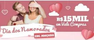 Promoção CDL Joaçaba Dia dos Namorados 2019 - 15 Mil Reais Vales-Compras
