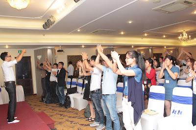 Các học viên Sài Gòn rất nhiệt tình trong các hoạt động chung của lớp