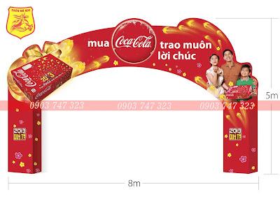 cổng chào sự kiện coca cola