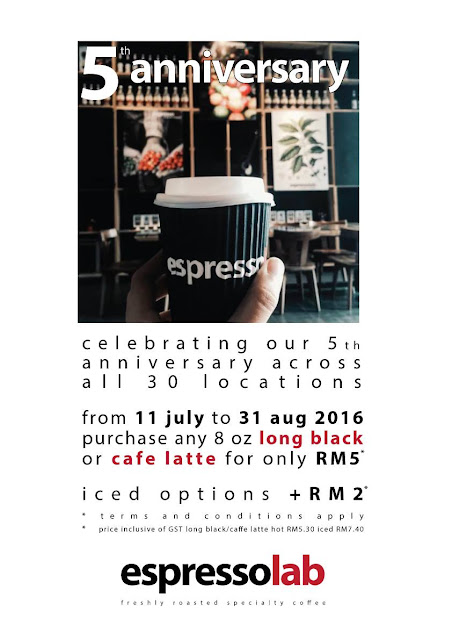Expressolab long black cafe latte RM5