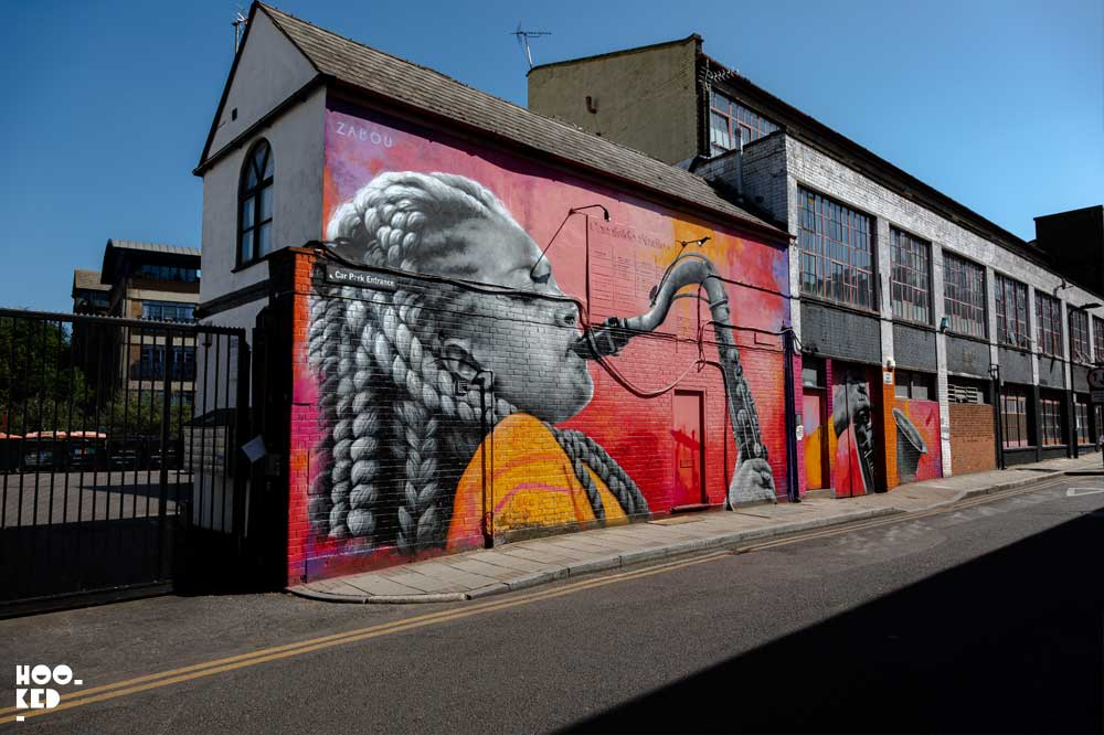 Zabou - Good Vibes London Mural in Haggerston