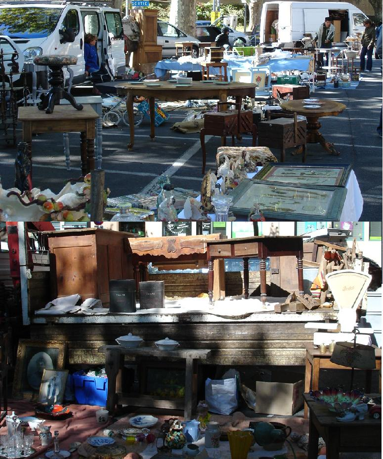 brocante charmante brocante in s dfrankreich. Black Bedroom Furniture Sets. Home Design Ideas