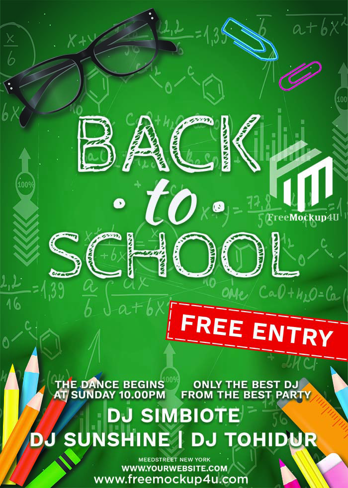 Back To School Event Flyer Templates