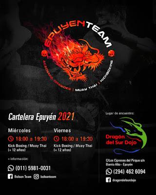 Kickboxing y Muay Thai en Dragón del Sur Dojo Epuyén.