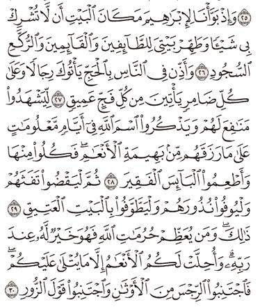 Tafsir Surat Al-Hajj Ayat 26, 27, 28, 29, 30