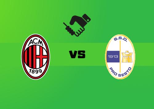 Milan vs Pro Sesto  Resumen