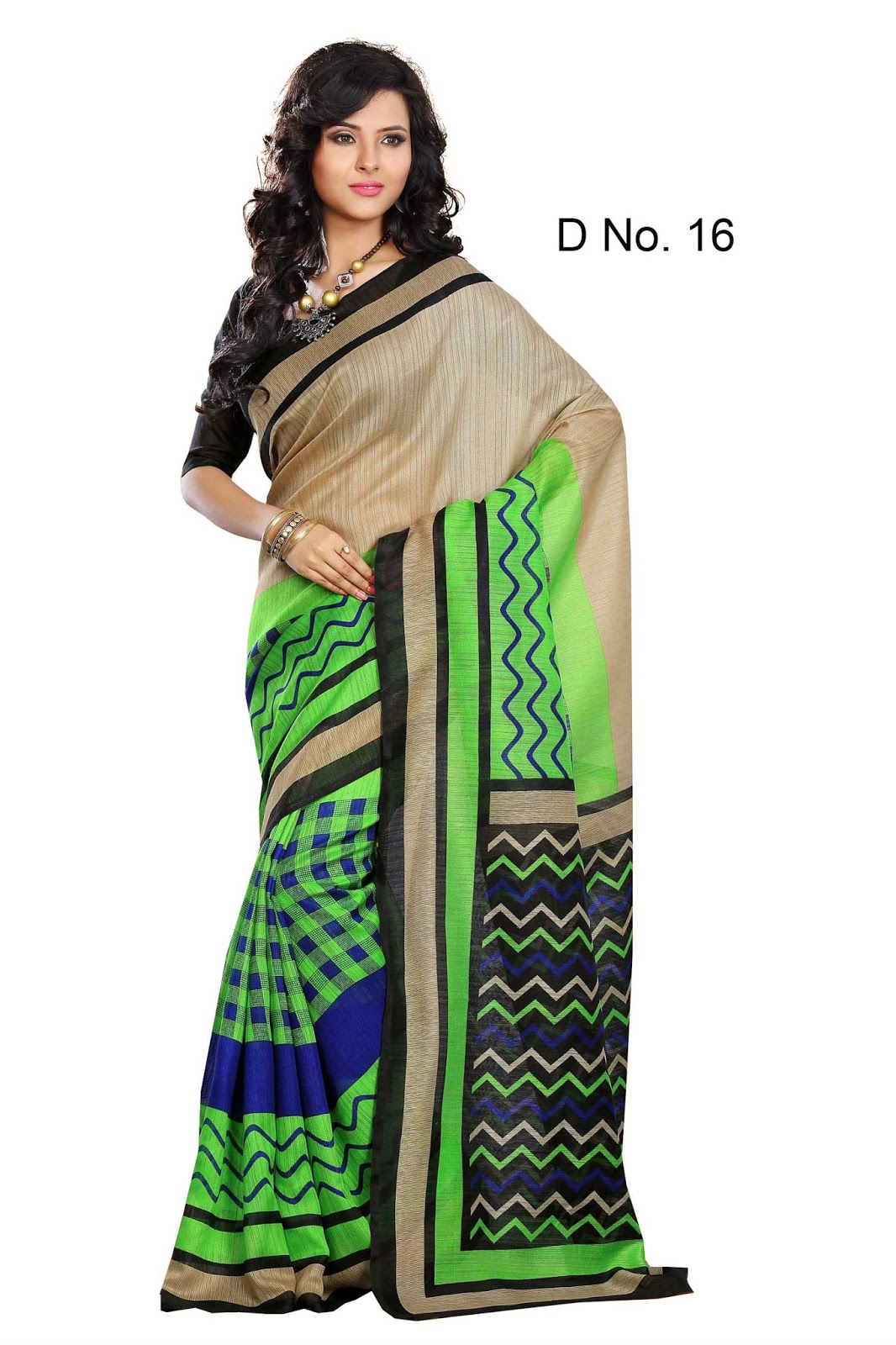 B 10 – Bhagalpuri Silk Printed Saree Buy Online