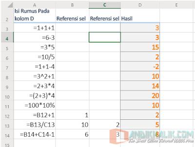 Membuat Formula atau Rumus dii Excel