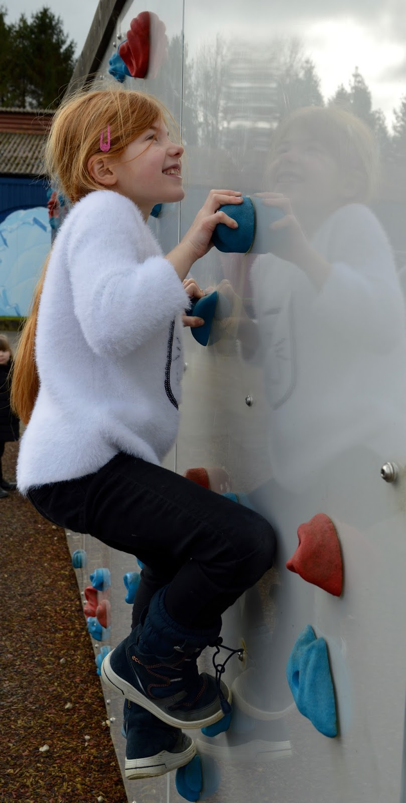 Visiting Angry Birds Activity Park at Lightwater Valley, North Yorkshire - climbing wall