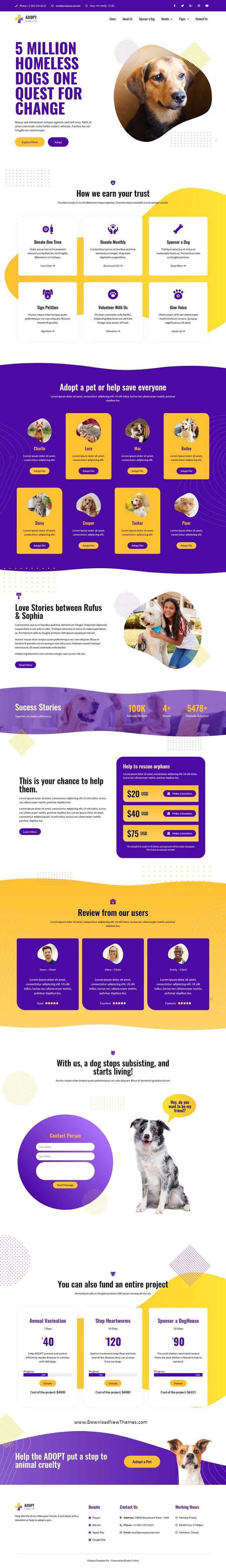 Best Adoption Service & Charity Elementor Template Kit