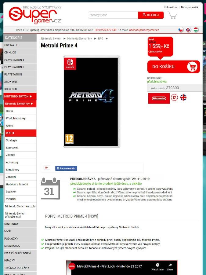 metroid prime 4 supergamer leaked listing rumor