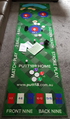 Putt18 Golf Putting Mat Game