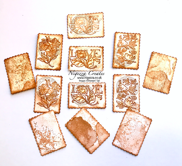 Nigezza Creates with Stampin' Up! Posted For You  to make Postage Stamp Mini Tags For Junk Journals & Scrapbooks