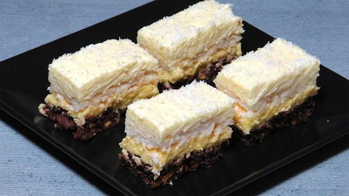 Prăjitură cu Nucă Prăjită și Nucă de Cocos