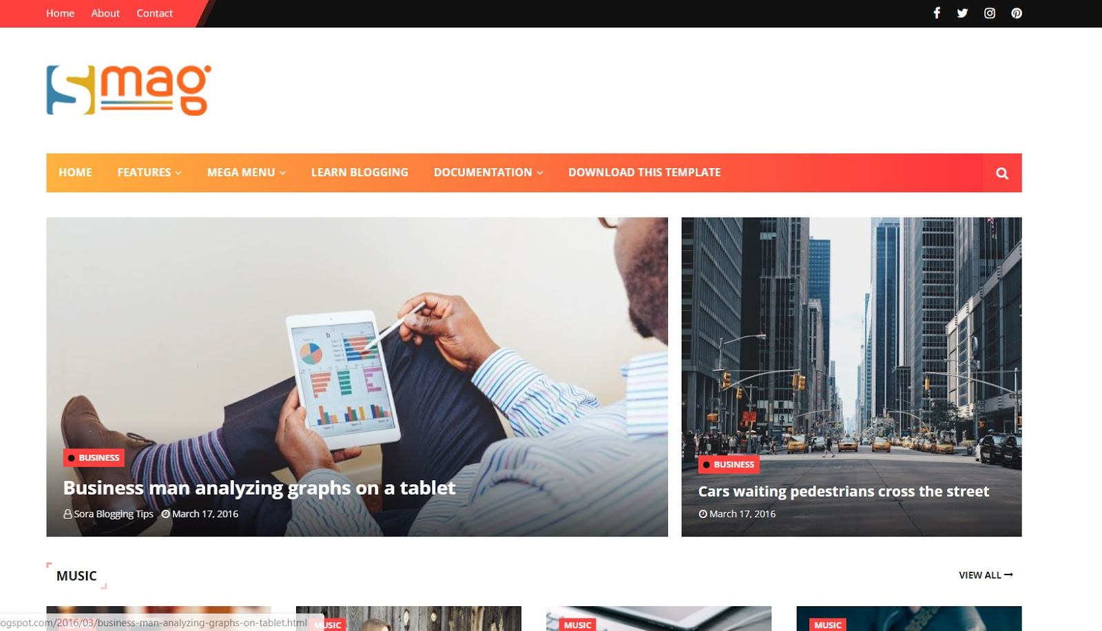 Smag Blogger Template Responsive Blogger Template