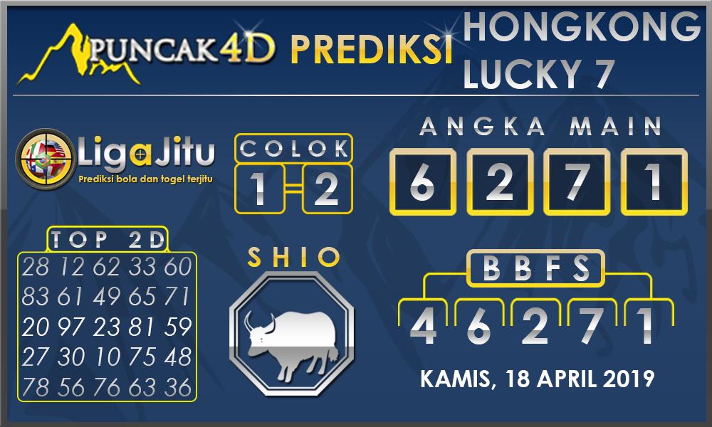 PREDIKSI TOGEL HONGKONG LUCKY7 PUNCAK4D 18 APRIL 2019