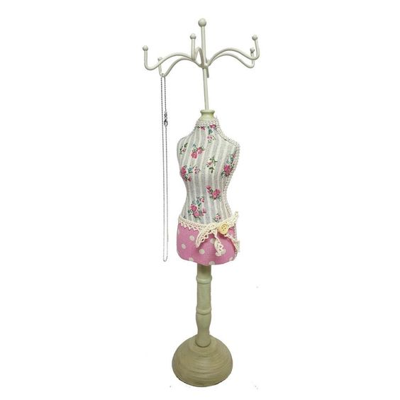 #NDF8806 Fabric-Covered Doll Jewelry Display