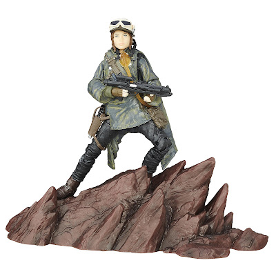 Star Wars Rogue One The Black Series Jyn Erson 6 Inch Action Figure with Mountain Base