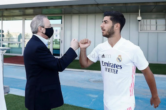 Pictures: Florentino Perez visit Real Madrid stars in training ground, shares epic fist bumps