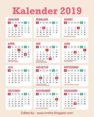 Download Kalender 2019 File Corel