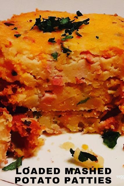 Loaded Mashed Potato Patties - Veggies First Then Dessert
