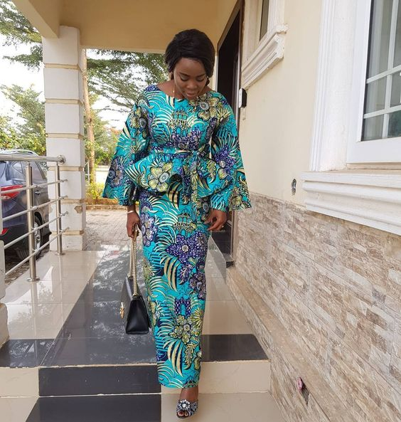 Beautiful And Excellent Ankara Peplum Skirt And Blouse