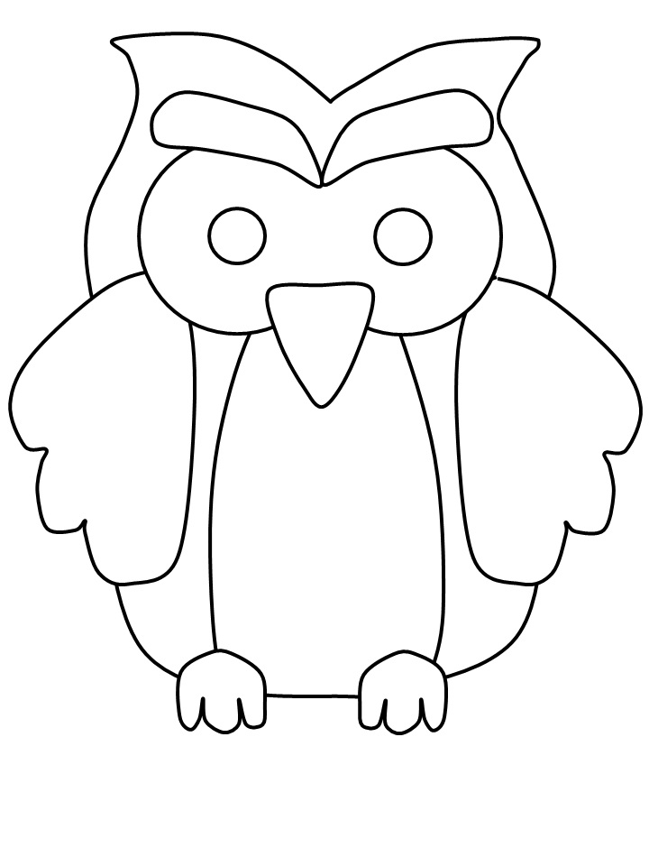 a owl coloring pages - photo #25