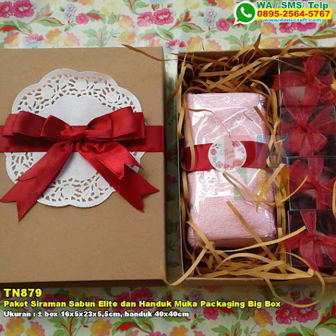 Paket Siraman Sabun Elite Dan Handuk Muka Packaging Big Box