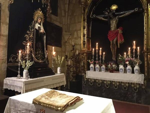 El Santísimo Cristo del Remedio de Ánimas lucirá en la Magna de Córdoba un sudario cuya tela fue donada por el destacado poeta Pablo García Baena