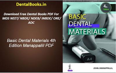 Basic Dental Materials 4th Edition Manappallil PDF